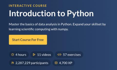 datacamp python free course