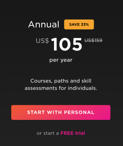 pluralsight annual subscription