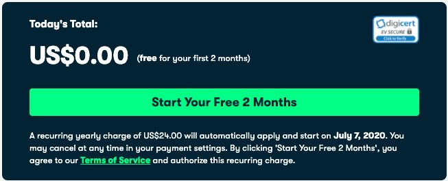 Skillshare $0 offer checkout