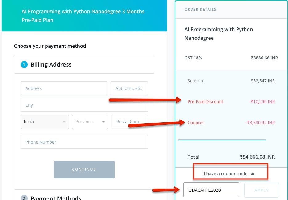 Udacity nanodegree coupon code