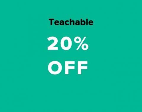 teachable 20% off