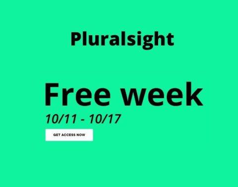 Pluralsight free week